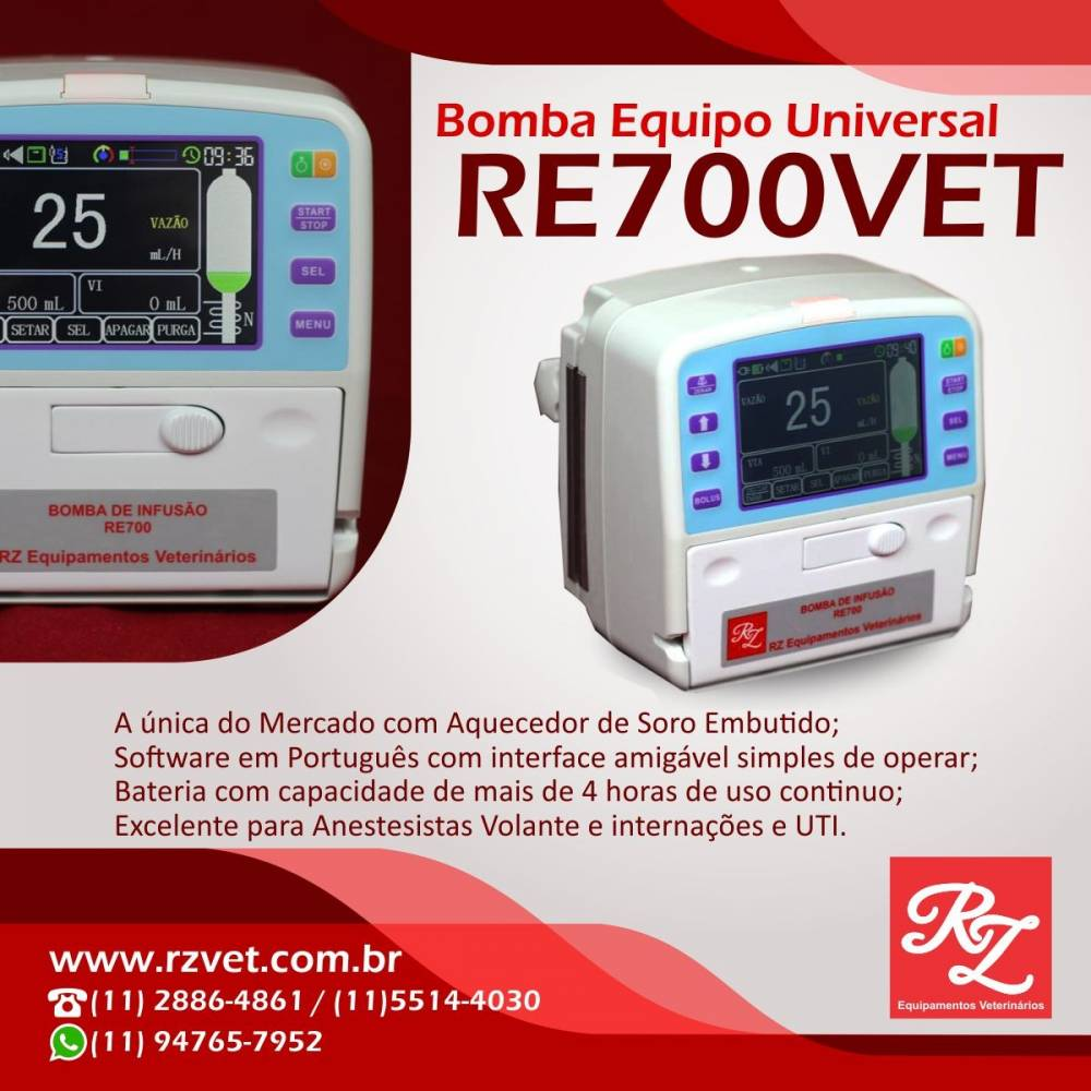Bomba de Equipo Veterinária - RE700VET