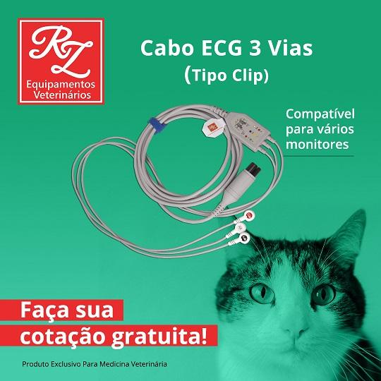 Cabo ECG 03 Vias Tipo Clip