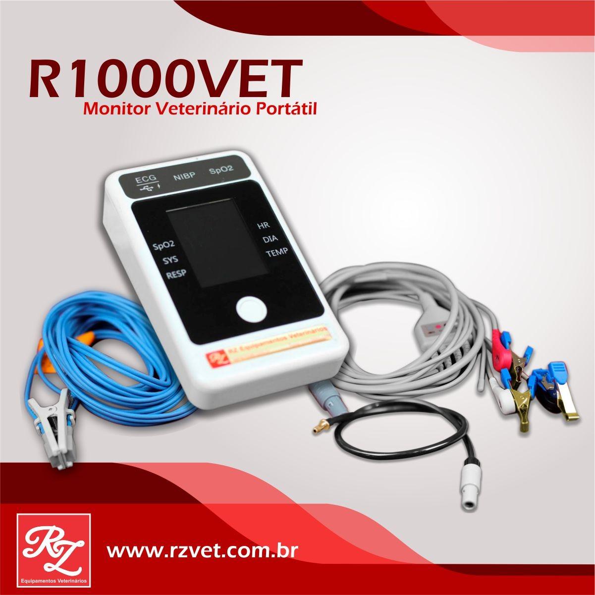Cabo ECG 3 vias - R1000 Vet