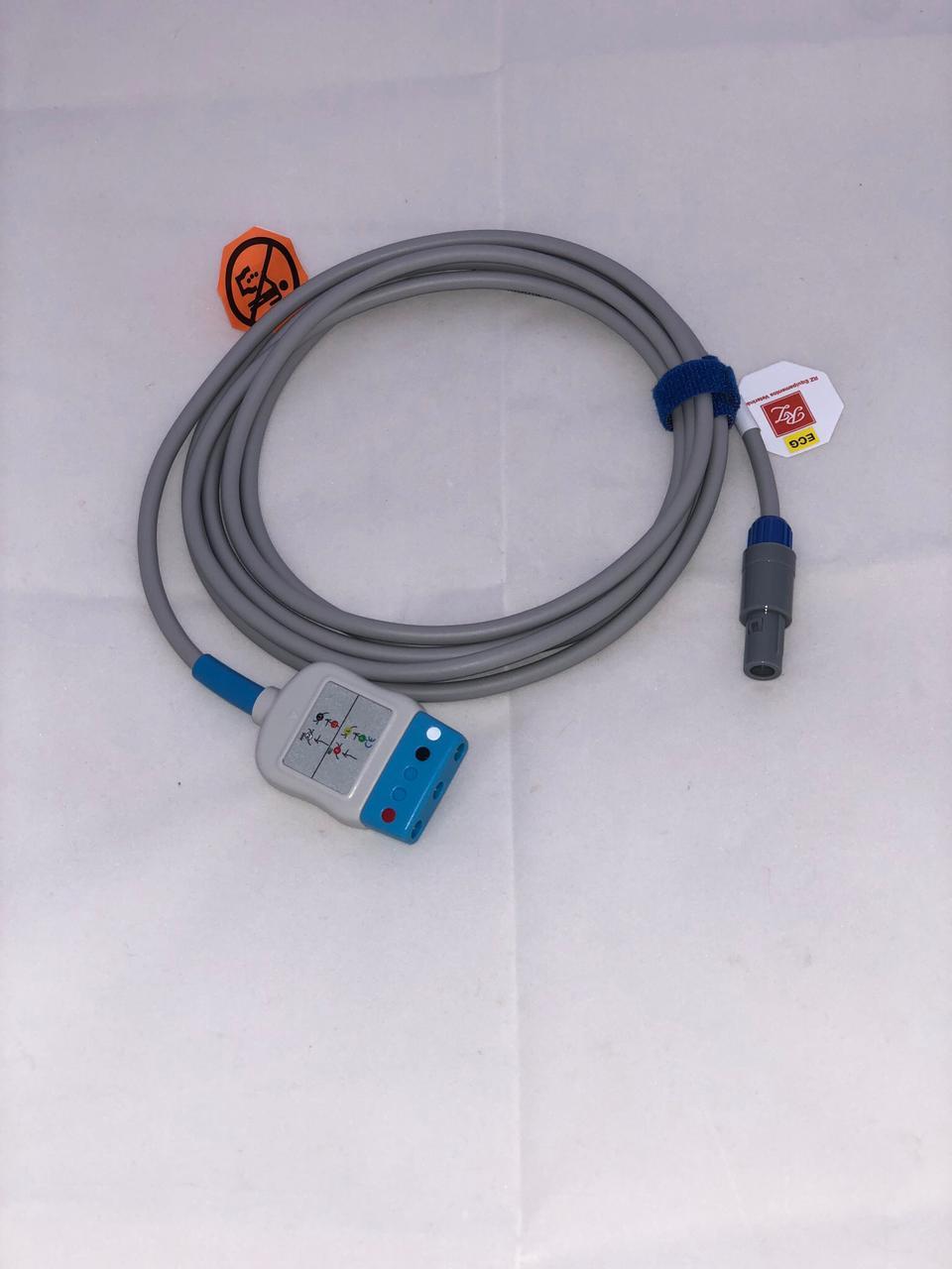 Cabo tronco de ECG 03 vias com eletrodos agulha para o monitor portátil R1000Vet