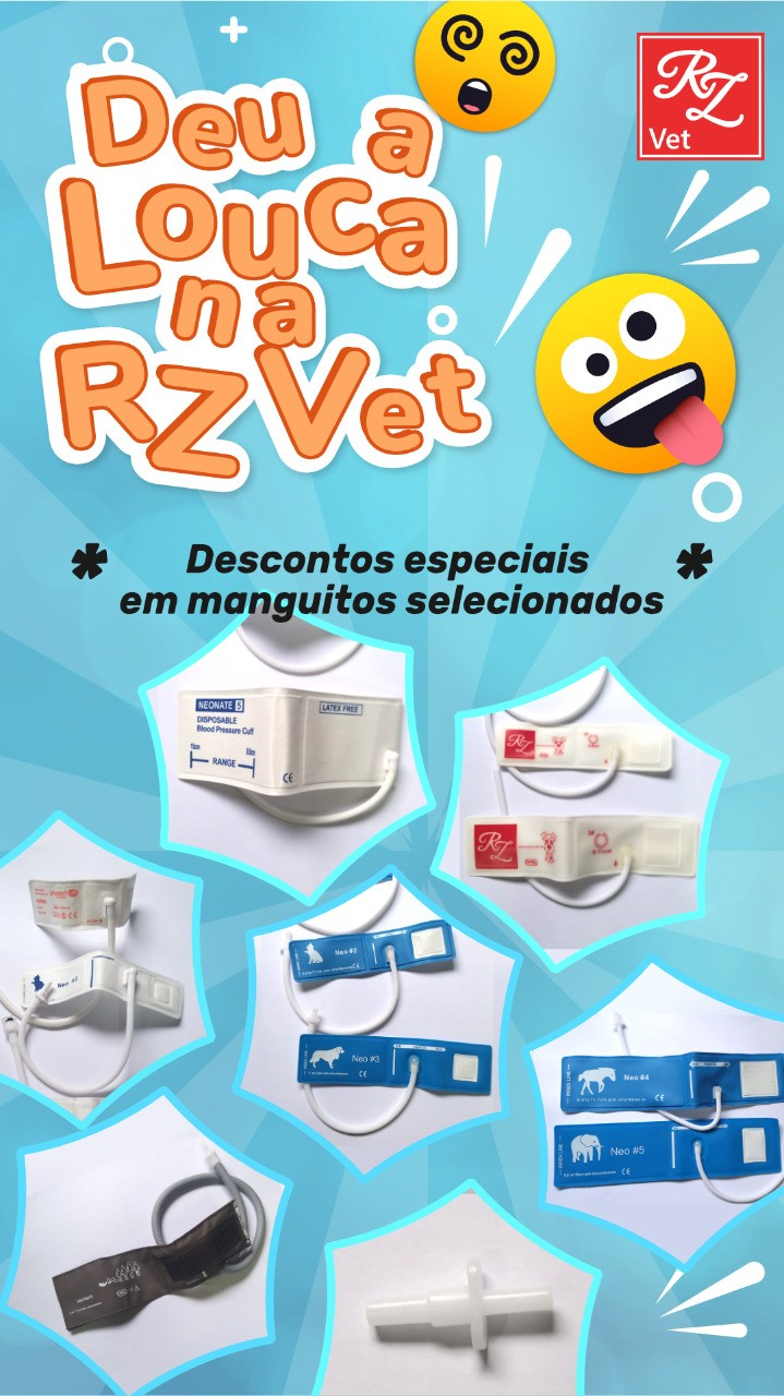 Manguito Veterinário de 01 via kit com os números  02, 03 ,04 - Unimed