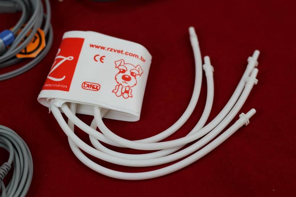 Monitor de Sinais Vitais Veterinária RM1000 VET  c/ Módulo de Análise de Gases Anestésicos + 2 Canais de PI