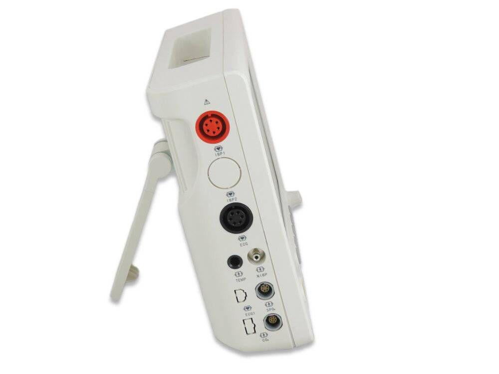 Monitor de Sinais Vitais Veterinária RM1000 VET  + 1 Canal de PI +  Capnografia
