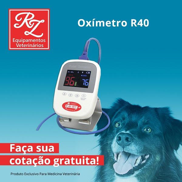 R40VET Oximetro Veterinário Ultra Portátil