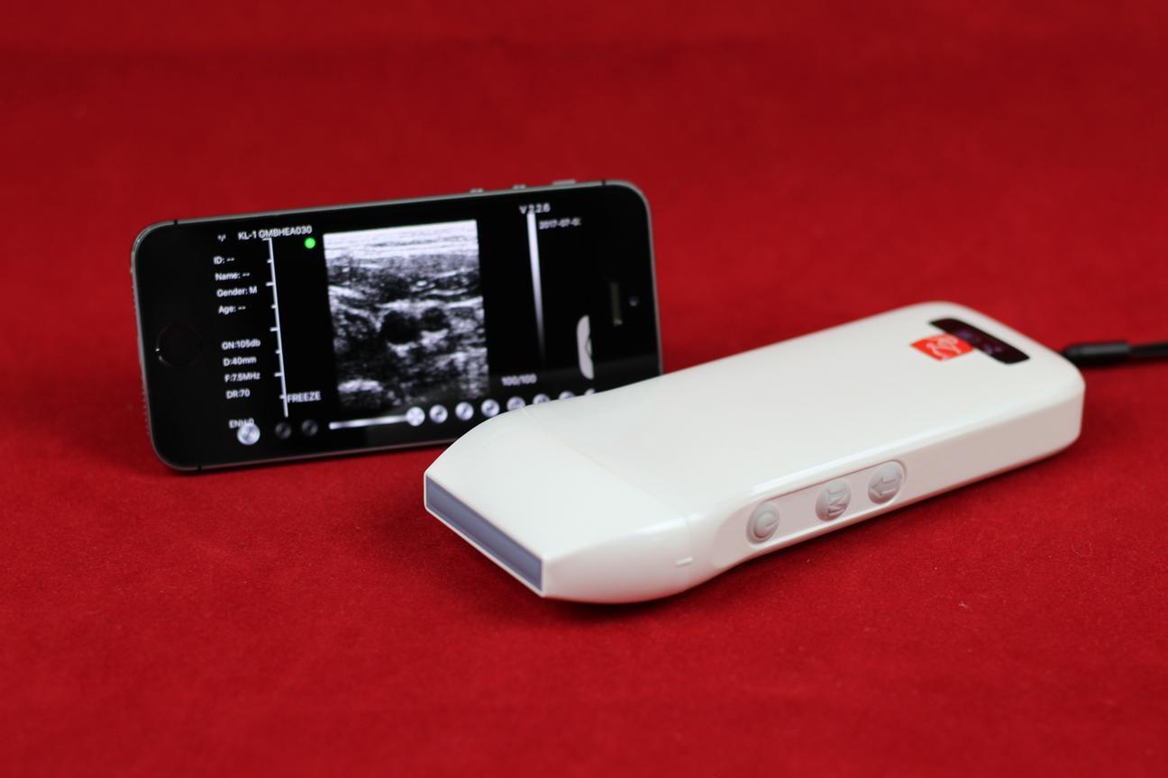Ultrassom Wi Fi c/ Doppler - Probe Linear 7,5 / 10,0 MHz para uso veterinário