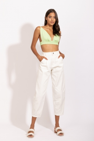 Calça Jeans Slouchy Branca