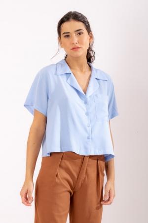 Camisa Viscose Azul Clara
