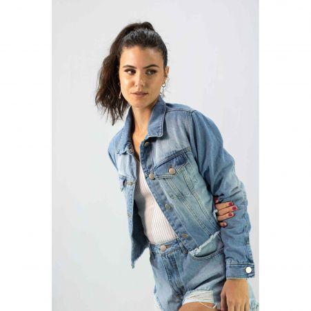Jaqueta Básica Jeans