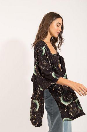 Kimono Estampa Universo
