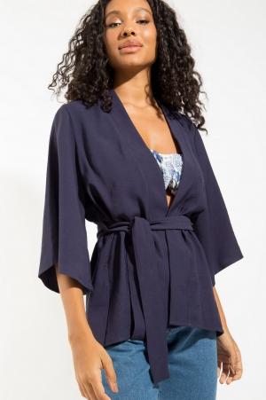 Kimono Marinho Faixa