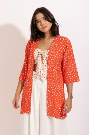 Kimono Poá Bicolor