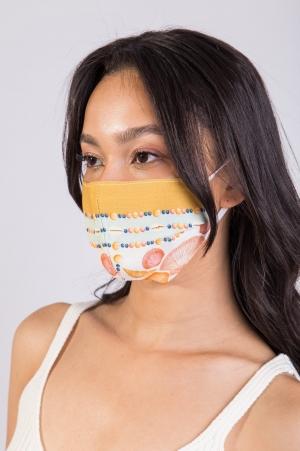 Máscara Estampa Conchas