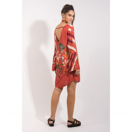 Vestido Lenço Vermelho