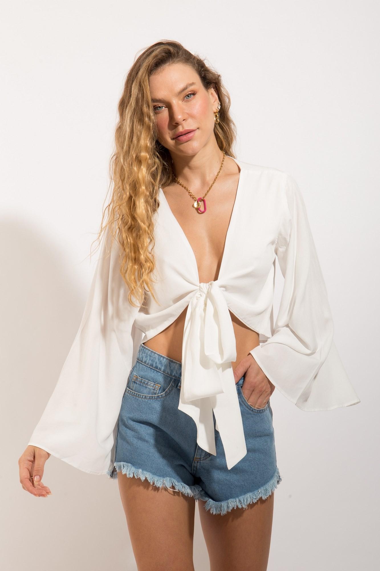 Blusa Amarração Branca