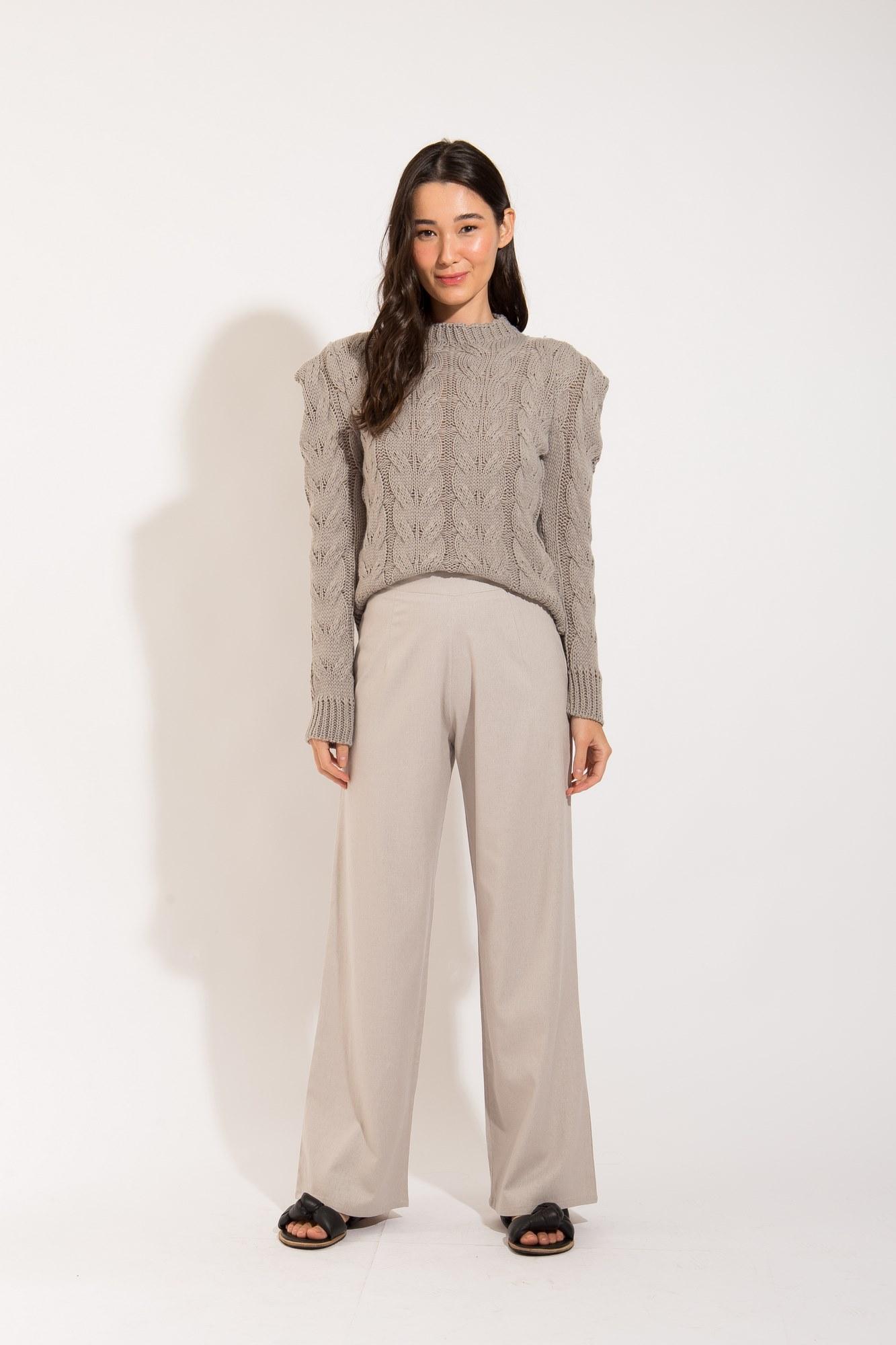 Calça Pantalona Cinza