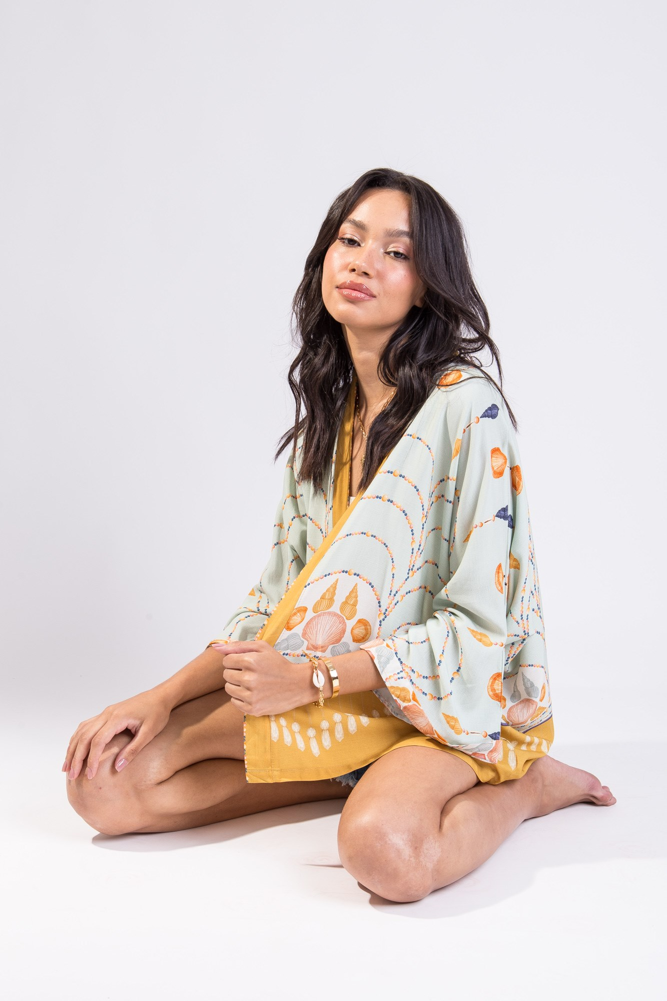 Kimono Estampa Concha