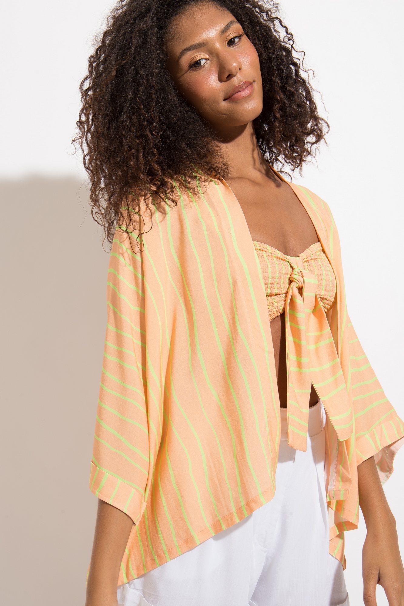 Kimono Listras Cítrica