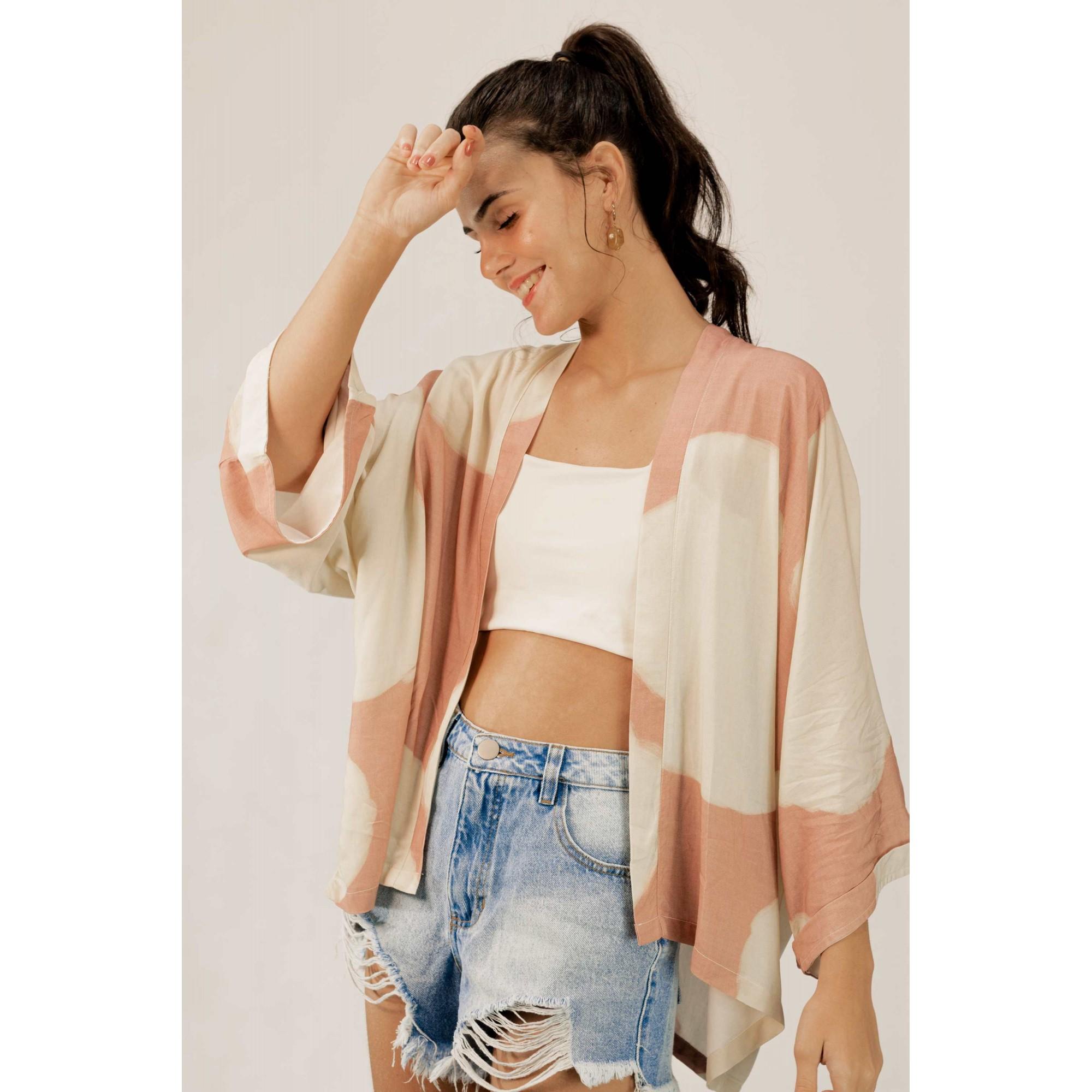 Kimono Maxi Poá