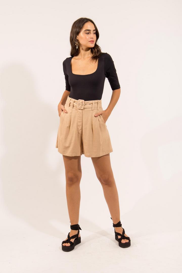Short Fivela Linho