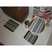 Kit de Tapete para banheiro Jacquard SORTIDO 40cm x 50cm