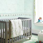 Papel de Parede Importado Verde para Quarto Infantil