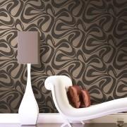 Papel de Parede Lavável Geométrico Marrom com Textura