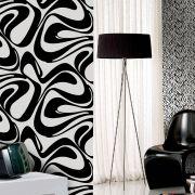 Papel de Parede Preto e Branco Lavável com 2 tipos de Texturas