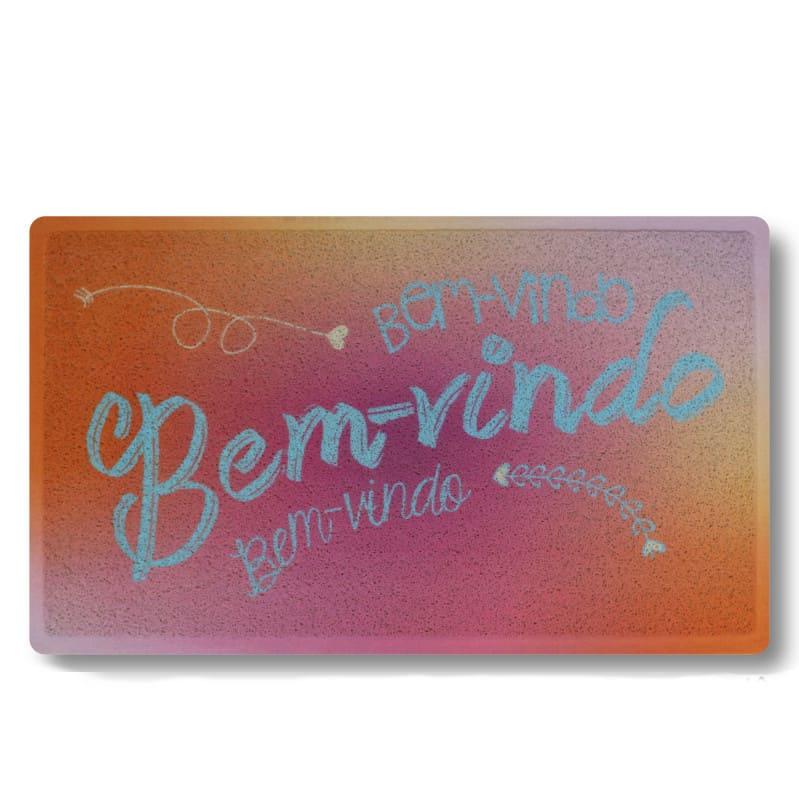 Capacho Bem-Vindo Colorido 45 cm x 75 cm