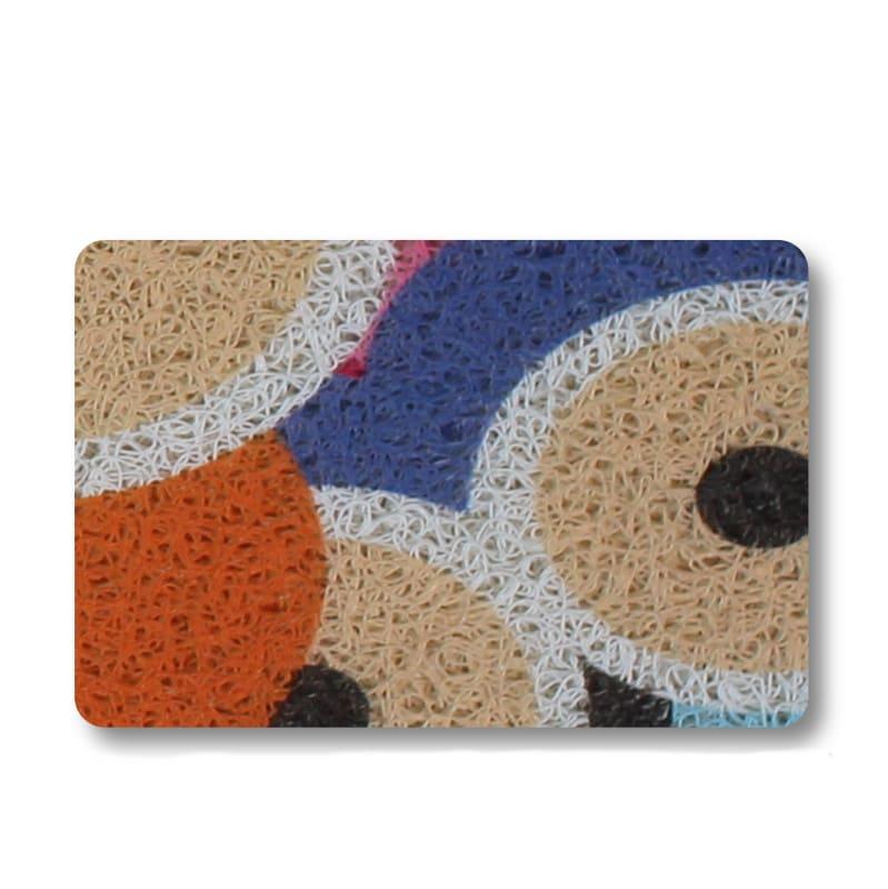 Capacho Coruja Colorido 45 cm x 75 cm