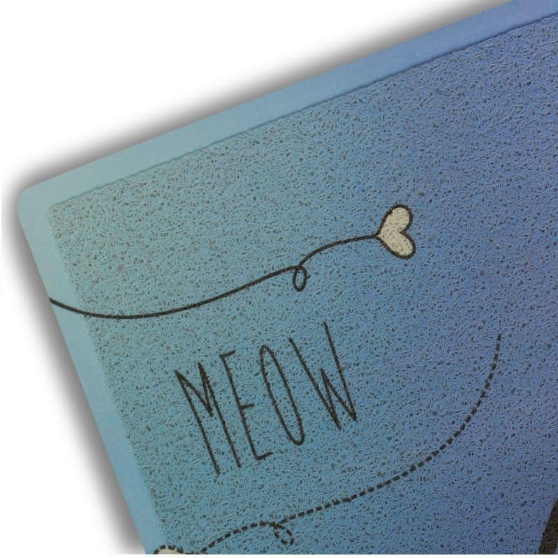 Capacho Gatinho Azul 45 cm x 75 cm
