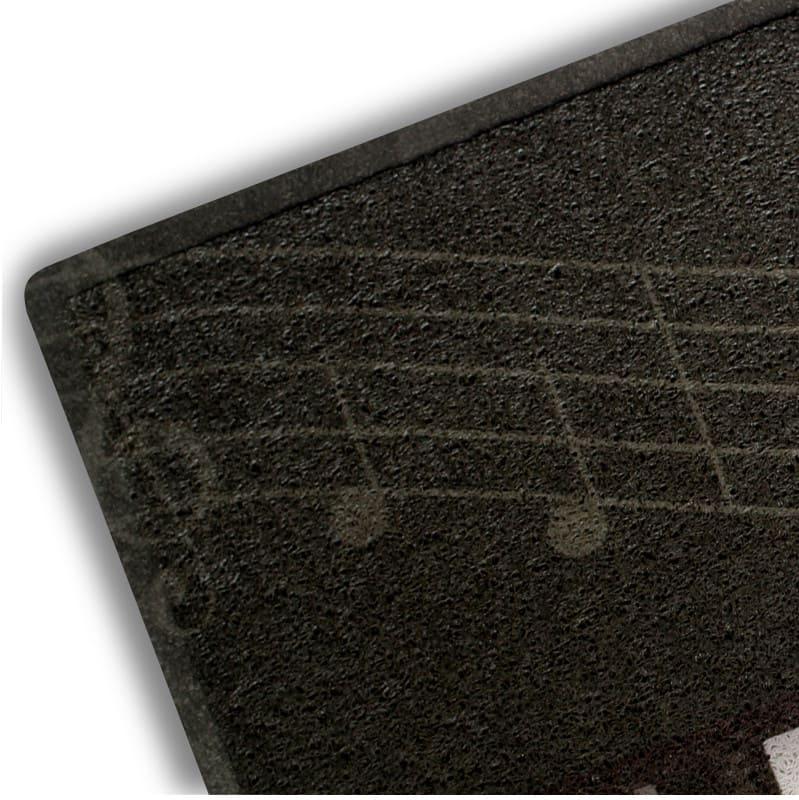 Capacho Preto Divertido 45 cm x 75 cm - Piano
