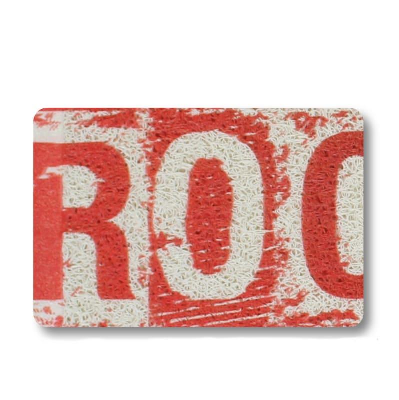 Capacho Vermelho Divertido 45 cm x 75 cm - Rock
