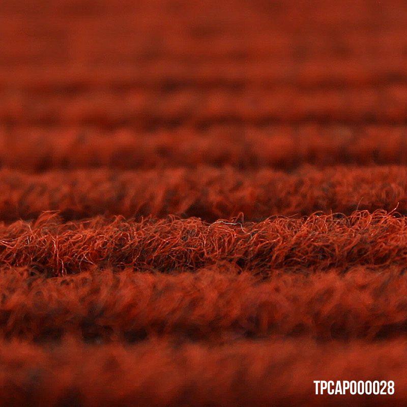 Capacho Vinil Canelado - Tapete de Porta Vermelho 40 x 60 cm