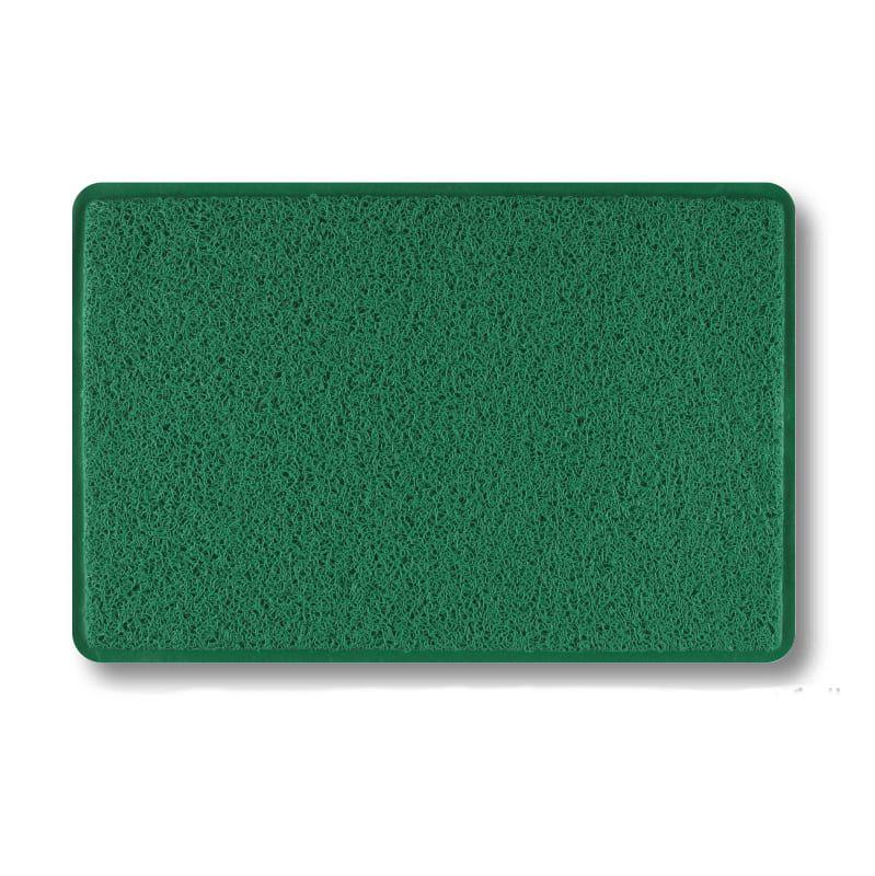 Capacho Vinil Verde - Tapete de Porta Antiderrapante 40 x 60 cm
