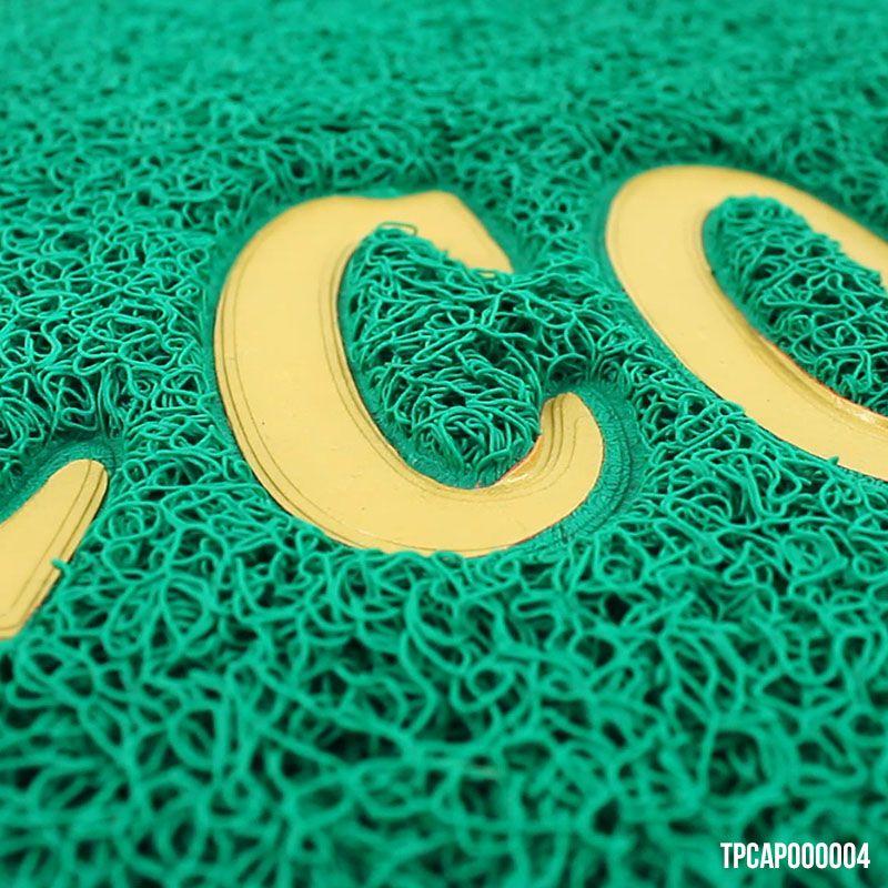 Capacho Welcome Verde - Tapete Porta Antiderrapante 40 x 60 cm
