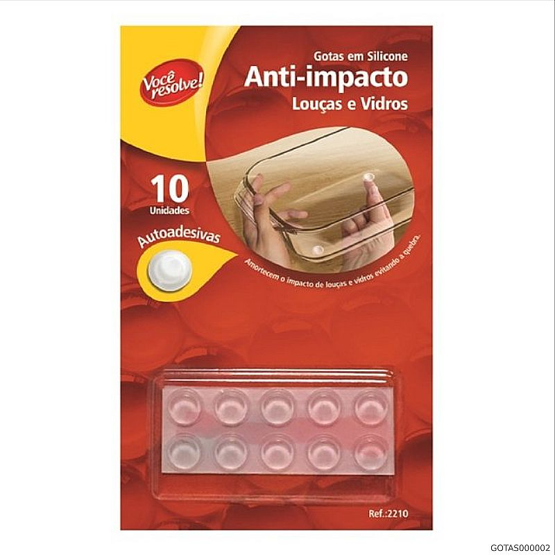 Gota de Silicone Anti-Impacto para Louças e Vidros