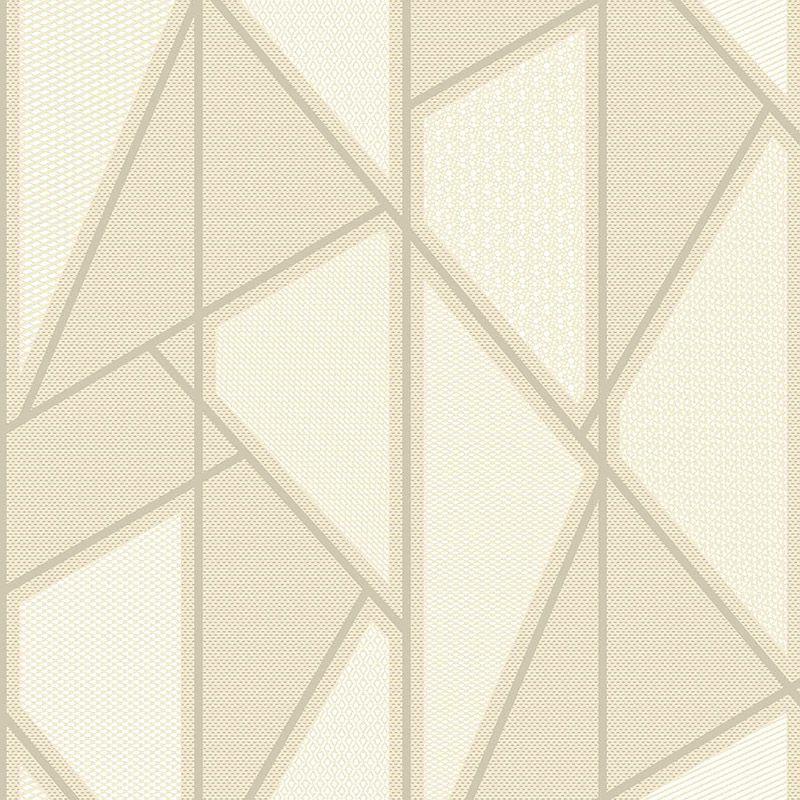 Papel de Parede Importado Geométrico Amarelo para Quarto