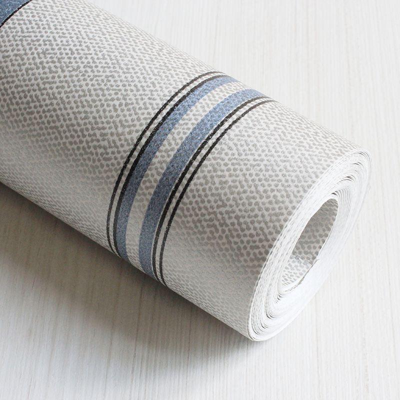 Papel de Parede Importado Prata Azul para Quarto