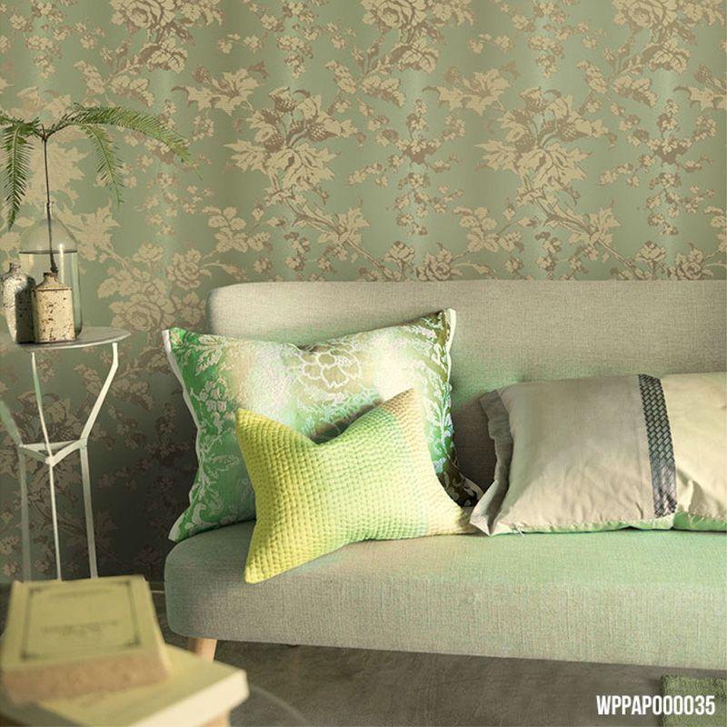 Papel de Parede Importado Verde com Textura