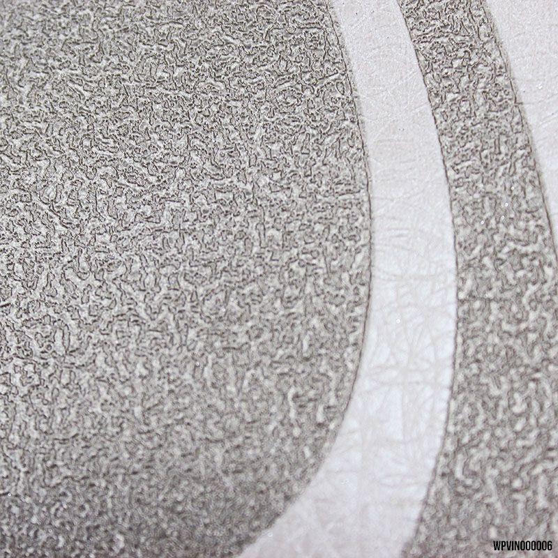 Papel de Parede Lavável Geométrico Rose e Cinza Metalizado