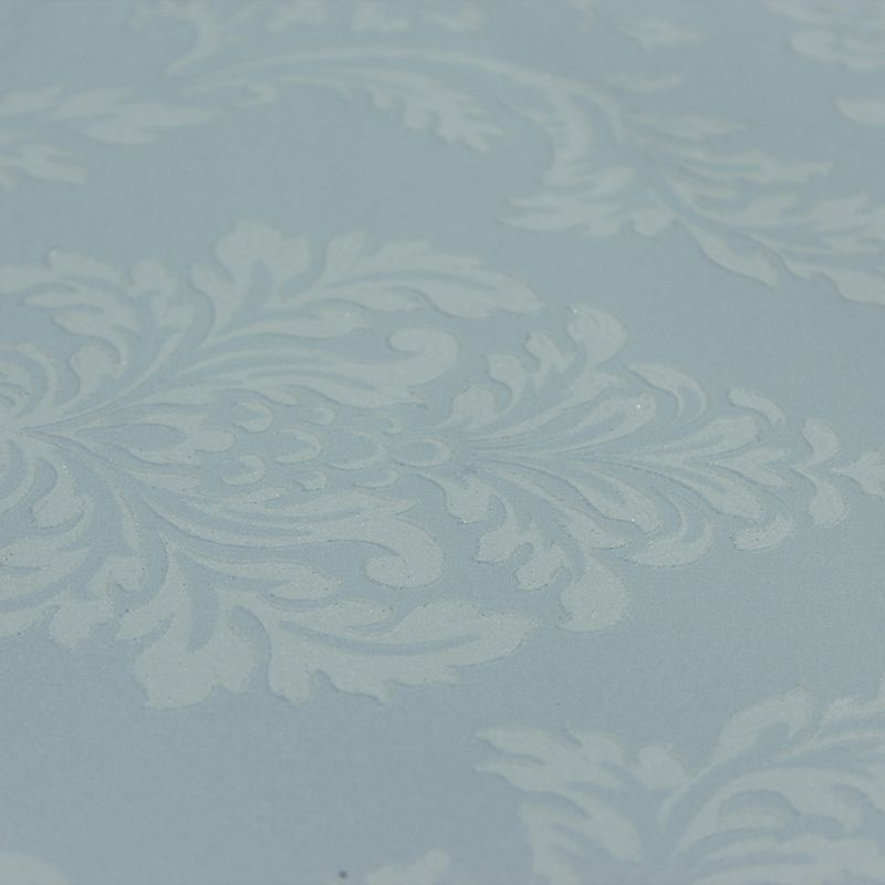 Papel de Parede Lavavel Pastel com Arabesco Branco
