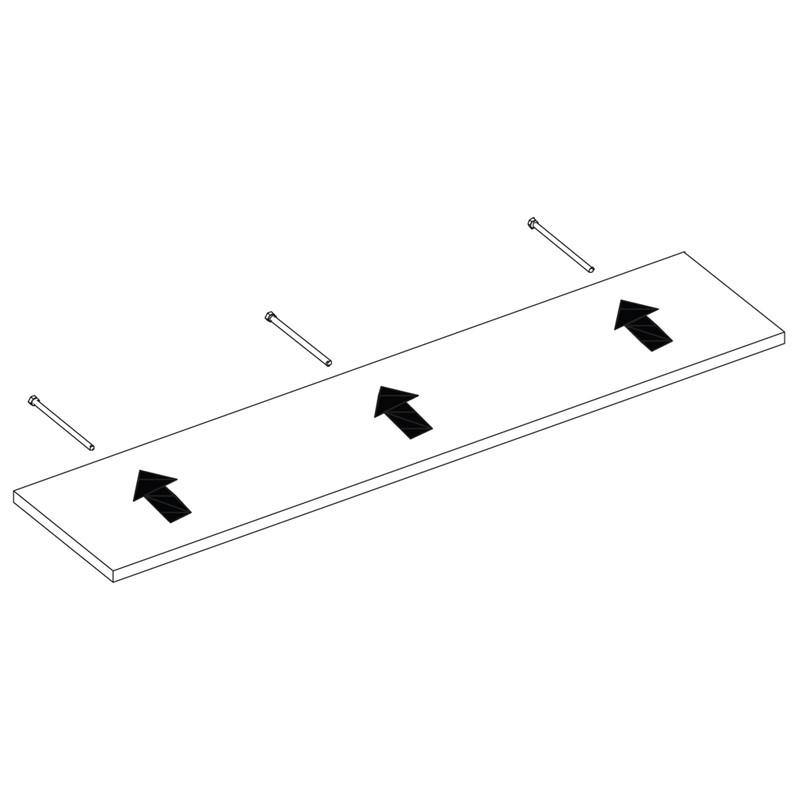 Prateleira MDP Branca 20 cm x 40 cm Suporte Invisível