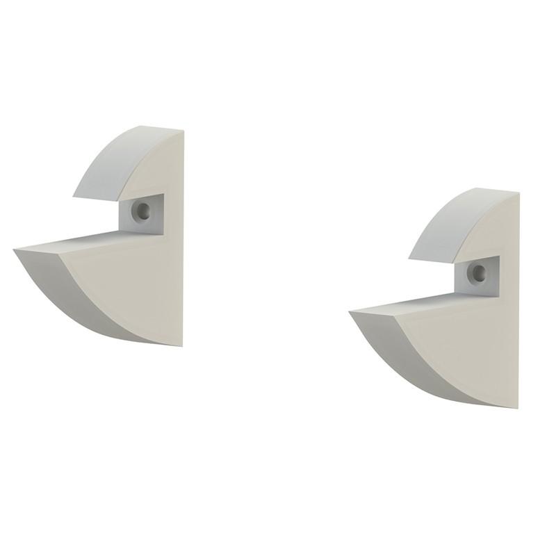 Prateleira MDP Branca 20 cm x 80 cm Suporte Clip