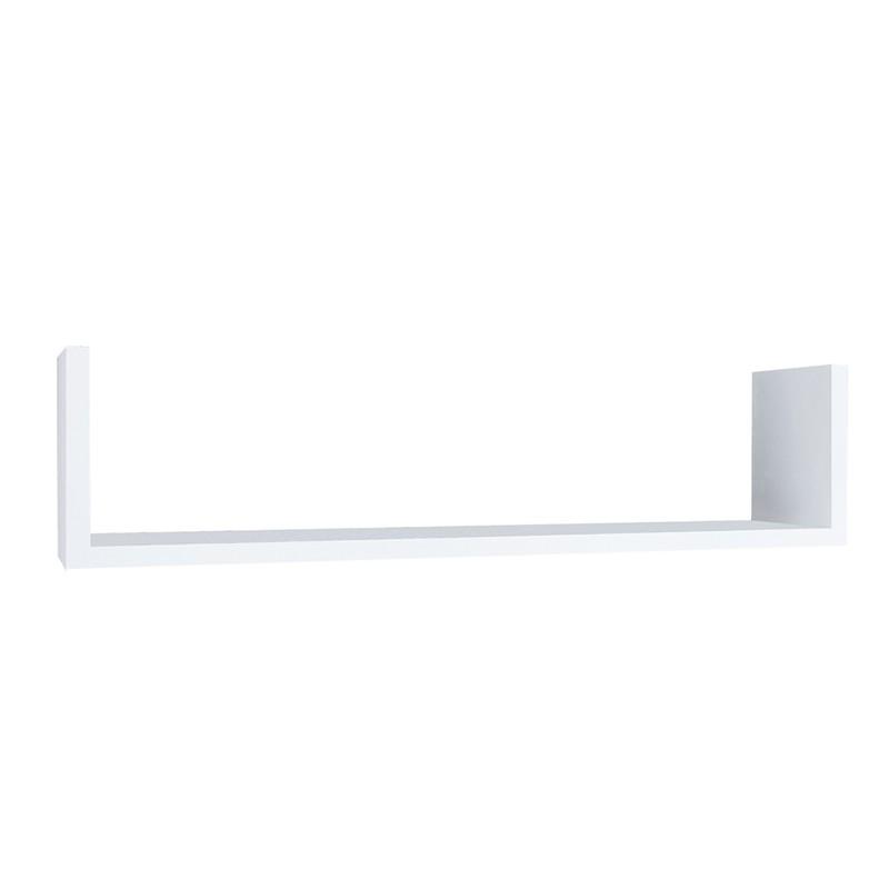 Prateleira MDP Branca U 20 cm x 60 cm Suporte Invisível