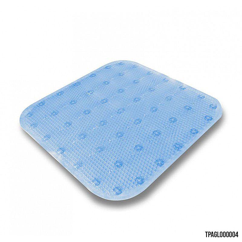 Tapete para Box Banheiro Azul Caribe 43x45 cm