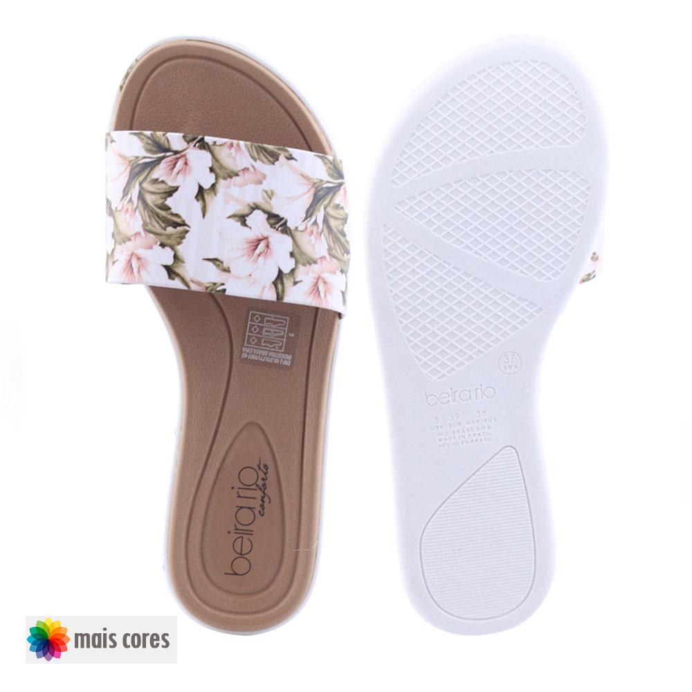 Chinelo Feminino 8359 109 slide rasteiro Beira Rio