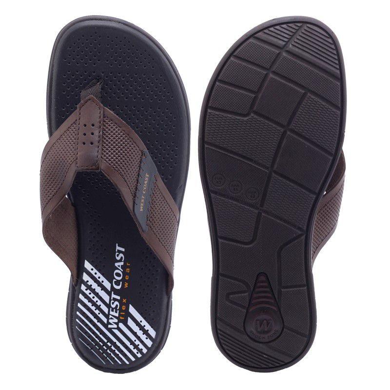 Chinelo Masculino 203501 couro palmilha Flex Wear West Coast