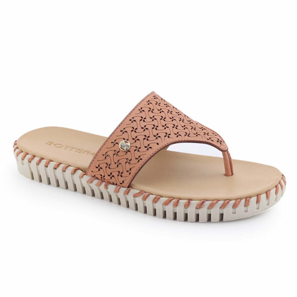 Chinelo Rasteira Bottero 314407 Couro Summer Burnish