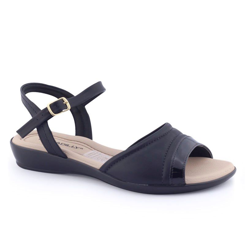 Sandália feminina 500241 4 anabela baixo Joanetes Piccadilly