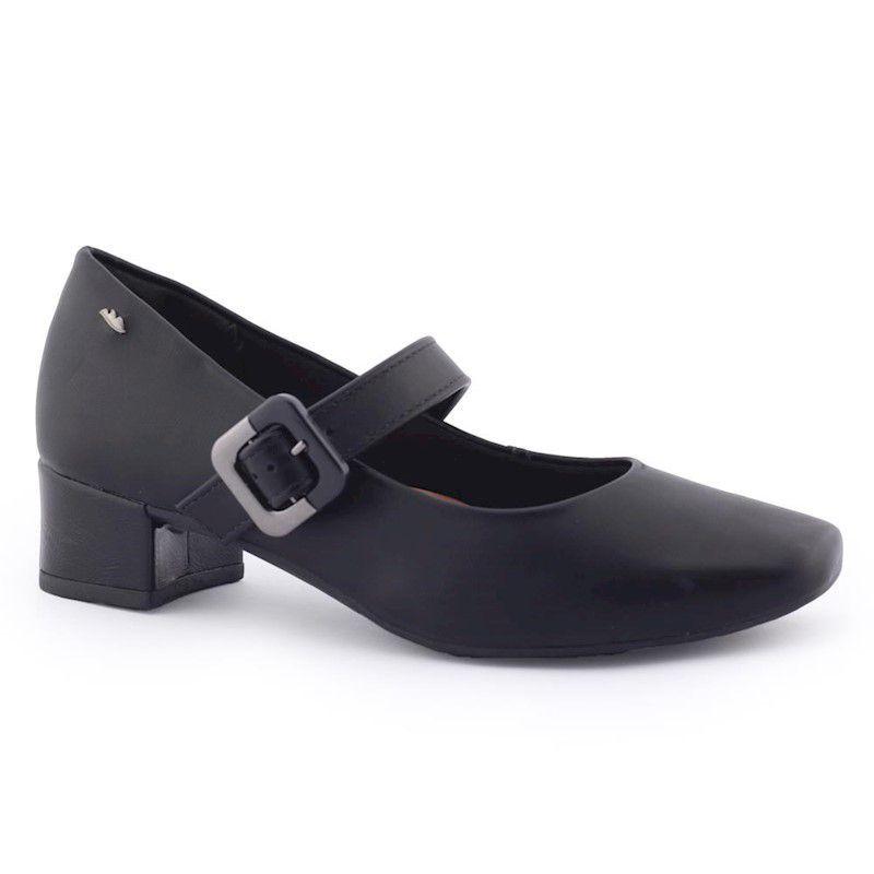 Sapato Fem. macio boneca salto baixo grosso G1082 - Dakota